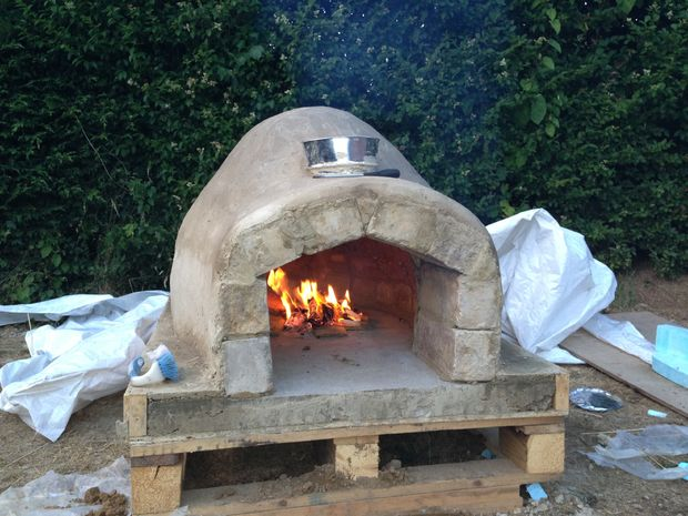 brick oven in your backyard